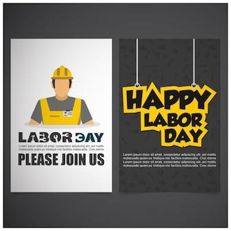 Frente Verso brochura do Dia do Trabalho