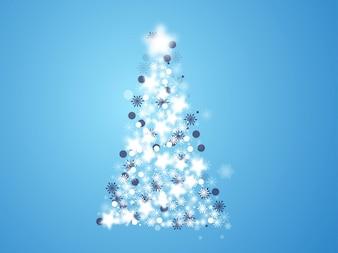 Frio da árvore de Natal vector celebração