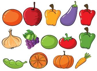 Frutas e vegetais saudáveis