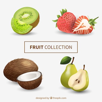 Frutas em estilo realista