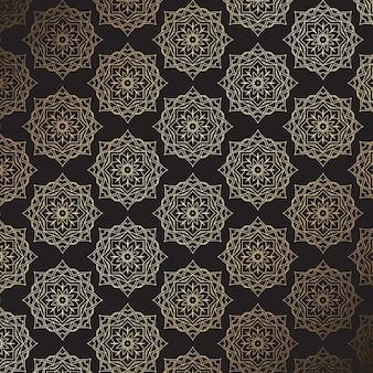 Fundo à moda elegante em dourado e preto