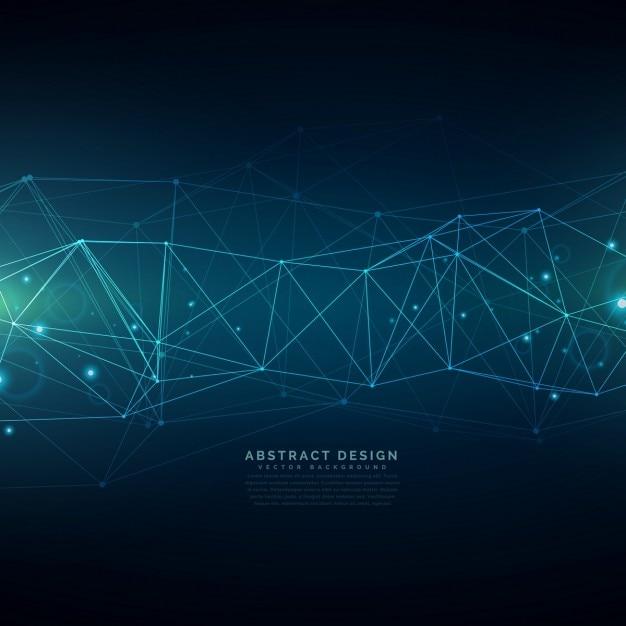 fundo a tecnologia digital composto por linhas de malha