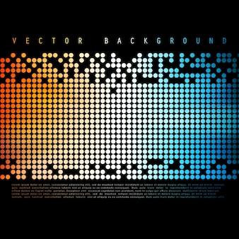 Fundo abstrato abstrato do vetor. Círculo de cores