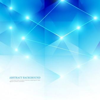 Fundo abstrato azul no baixo estilo poli