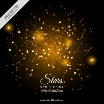Fundo abstrato com estrelas brilhantes