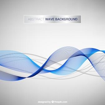 Fundo abstrato com formas onduladas azuis e cinzentas