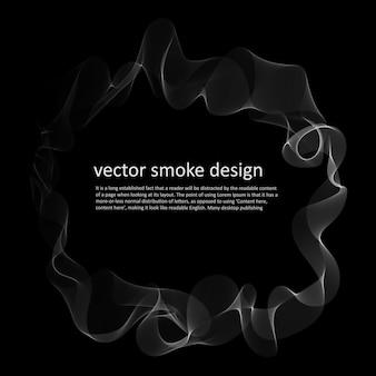 Fundo abstrato com fumaça