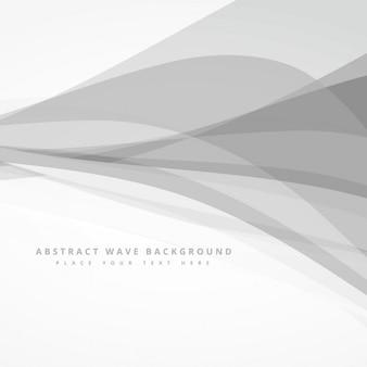 Fundo abstrato com ondas cinzentas