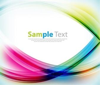 Fundo abstrato com ondas coloridos