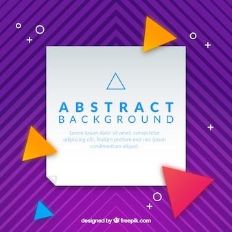 Fundo abstrato com triângulos coloridos