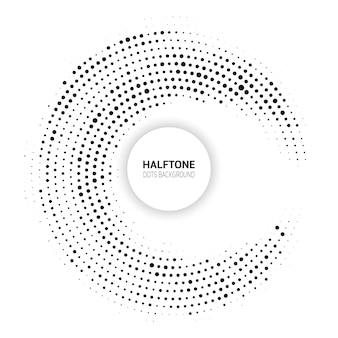 Fundo abstrato com um design de pontos de meio-tom