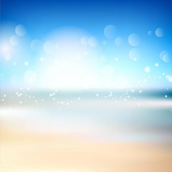 Fundo abstrato com um tema da praia