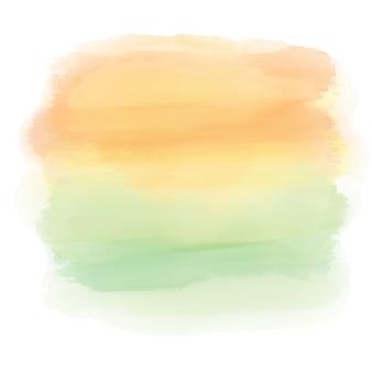 Fundo abstrato da aguarela de uma paisagem do por do sol