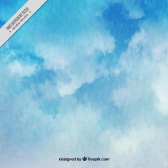 Fundo abstrato da aguarela do céu