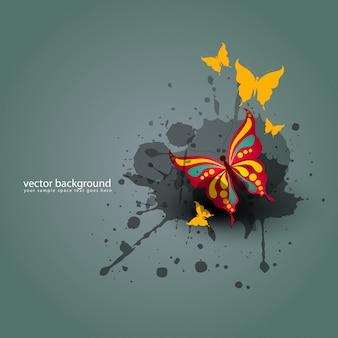 Fundo abstrato da ilustração vetorial borboleta