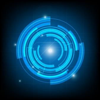 Fundo abstrato da tecnologia círculo