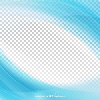 Fundo abstrato das ondas azuis brilhantes