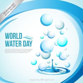 Fundo abstrato Dia Mundial da Água