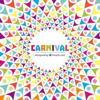 Fundo abstrato do carnaval no estilo colorido