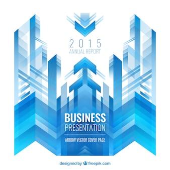 Fundo abstrato do negócio com setas azuis