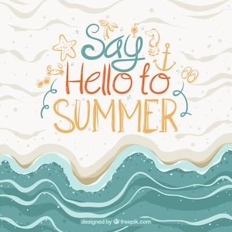 Fundo abstrato do verão
