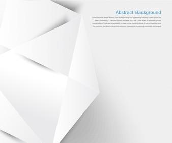 Fundo abstrato do vetor. Branco geométrico