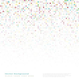 Fundo abstrato do vetor com círculos de cores