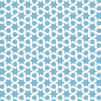 Fundo abstrato islâmico geométrico do vetor. Baseado em ornamentos étnicos muçulmanos. Listras de papel entrelaçadas. Fundo elegante para cartões, convites etc.