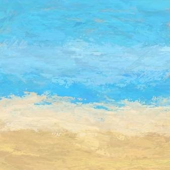 Fundo abstrato pintado paisagem da praia