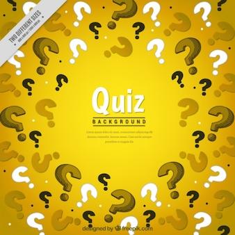 Fundo amarelo com pontos de interrogação