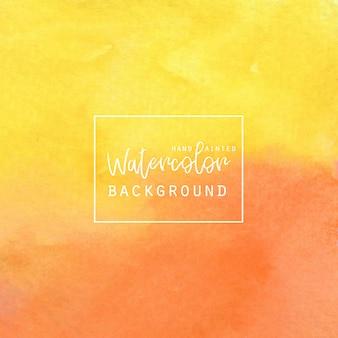 Fundo amarelo e alaranjado da aguarela