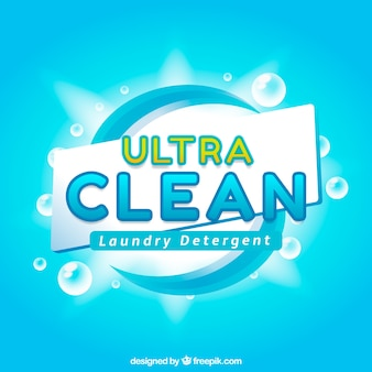 Fundo azul brilhante de detergente