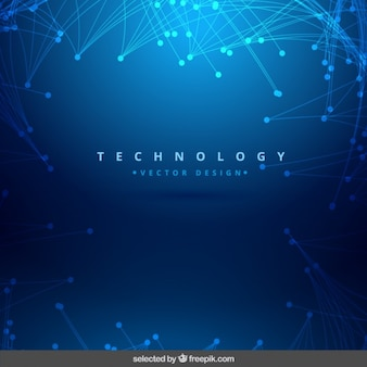 Fundo azul brilhante tecnologia