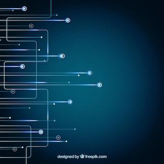 Fundo azul da tecnologia