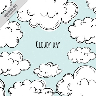 Fundo azul de dia nublado