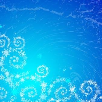 Fundo azul do Natal mágico