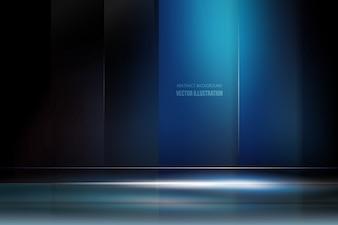 Fundo azul escuro com luz