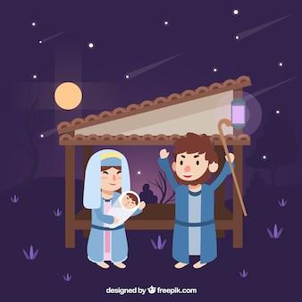 Fundo bela cena da natividade