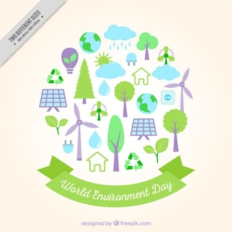 Fundo bonito com elementos do ambiente