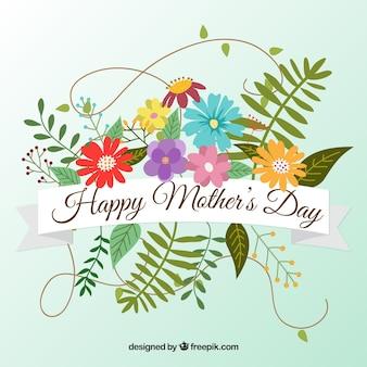 Fundo bonito com flores coloridas para o dia da mãe