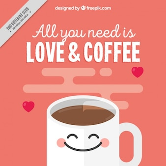 Fundo bonito do café
