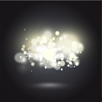 Fundo branco fundo vibrante noite