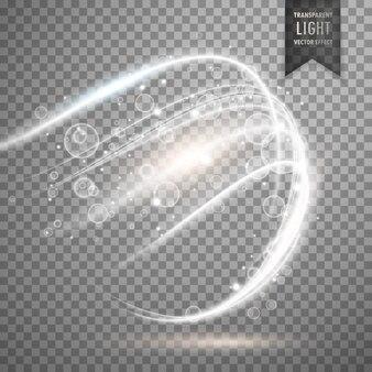 Fundo branco transparente efeito de luz