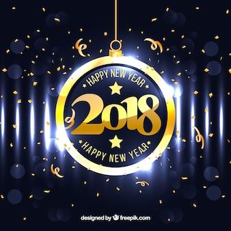 Fundo brilhante ano novo 2018
