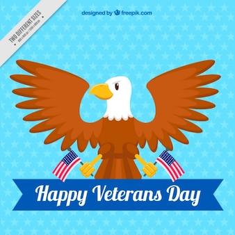 Fundo celestial simbólico do dia de veteranos