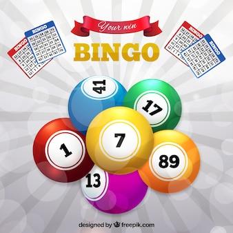 Fundo, colorido, bingo, bolas
