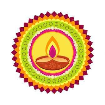Fundo colorido bonito do vetor diwali feliz