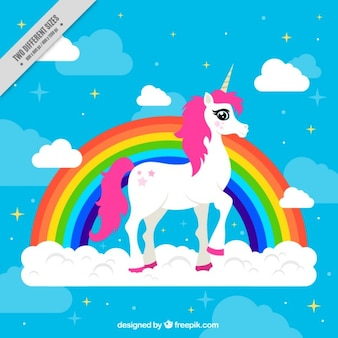 Fundo colorido com muito unicorn