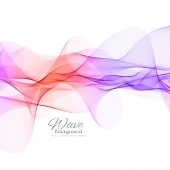 Fundo colorido com ondas