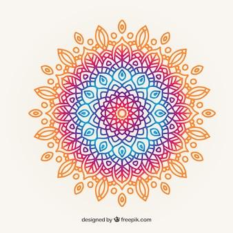 Fundo colorido da mandala